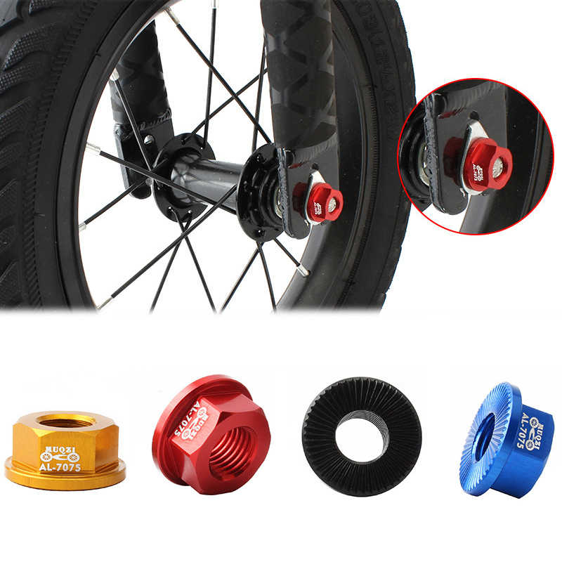 Bike Nut Wheel Rear Accessories Aluminum alloy 4Pcs Bicycle Quick release