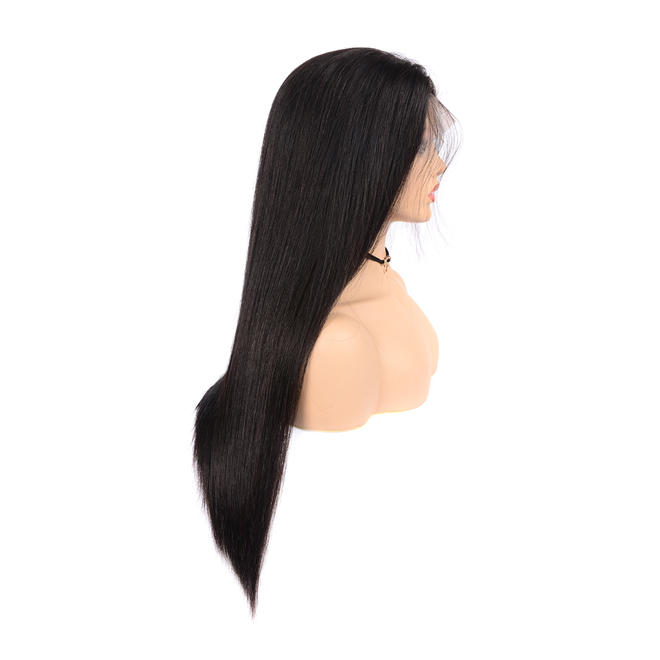 Full Lace Wig Pre Plucked With Baby Hair 10-26 Inch Remy Malaysian Straight Lace Front Human Hair Wigs