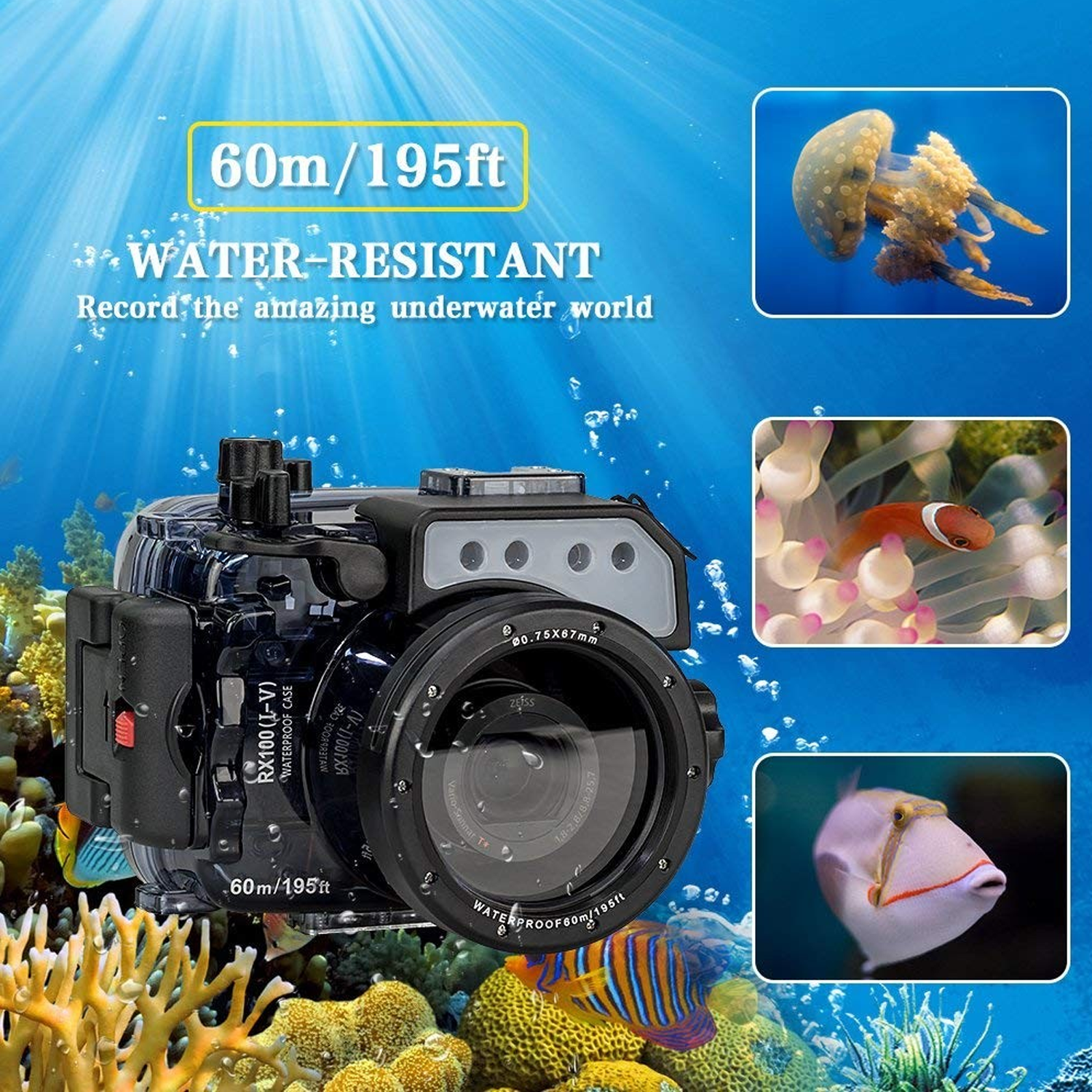 Image 2 - Seafrogs 60m/195ft Underwater Camera Housing for Sony DSC RX100(I V) M2 M3 M4 M5Camera/Video Bags   -