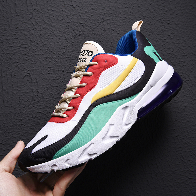 Men Running Shoes Air Cushion Athletic Trainers Men Stylish Sneakers Man Multicolor Stitching Couple Shoes Chaussure Homme Sport