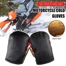 Luvas do guiador da motocicleta com tira reflexiva à prova de vento à prova dwindproof água quente moto lidar com barra mão capa
