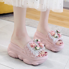 Lucyever 2020 Summer Platform Slippers Wedge Women Beach Shoes Ladies Fashion Cr