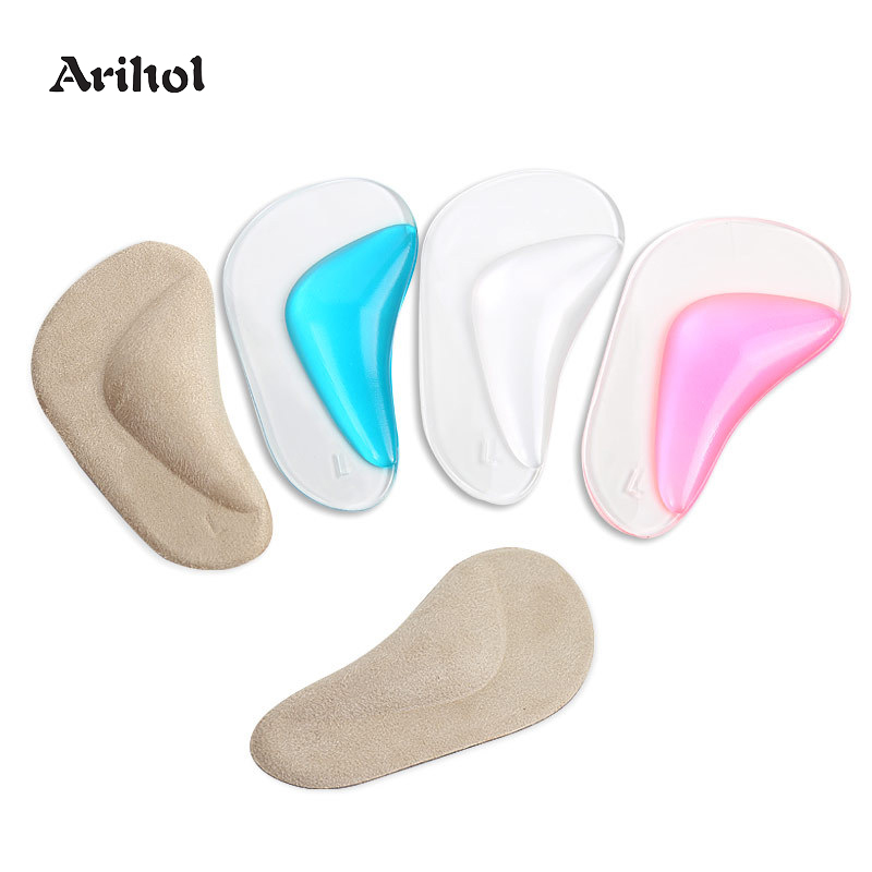 Foot's Arch Support Shoe Insole For Flat Feet Gel Arch Inserts Pad For Plantar Fasciitis Adhesive Arch Pad Relieve Foot Pressure