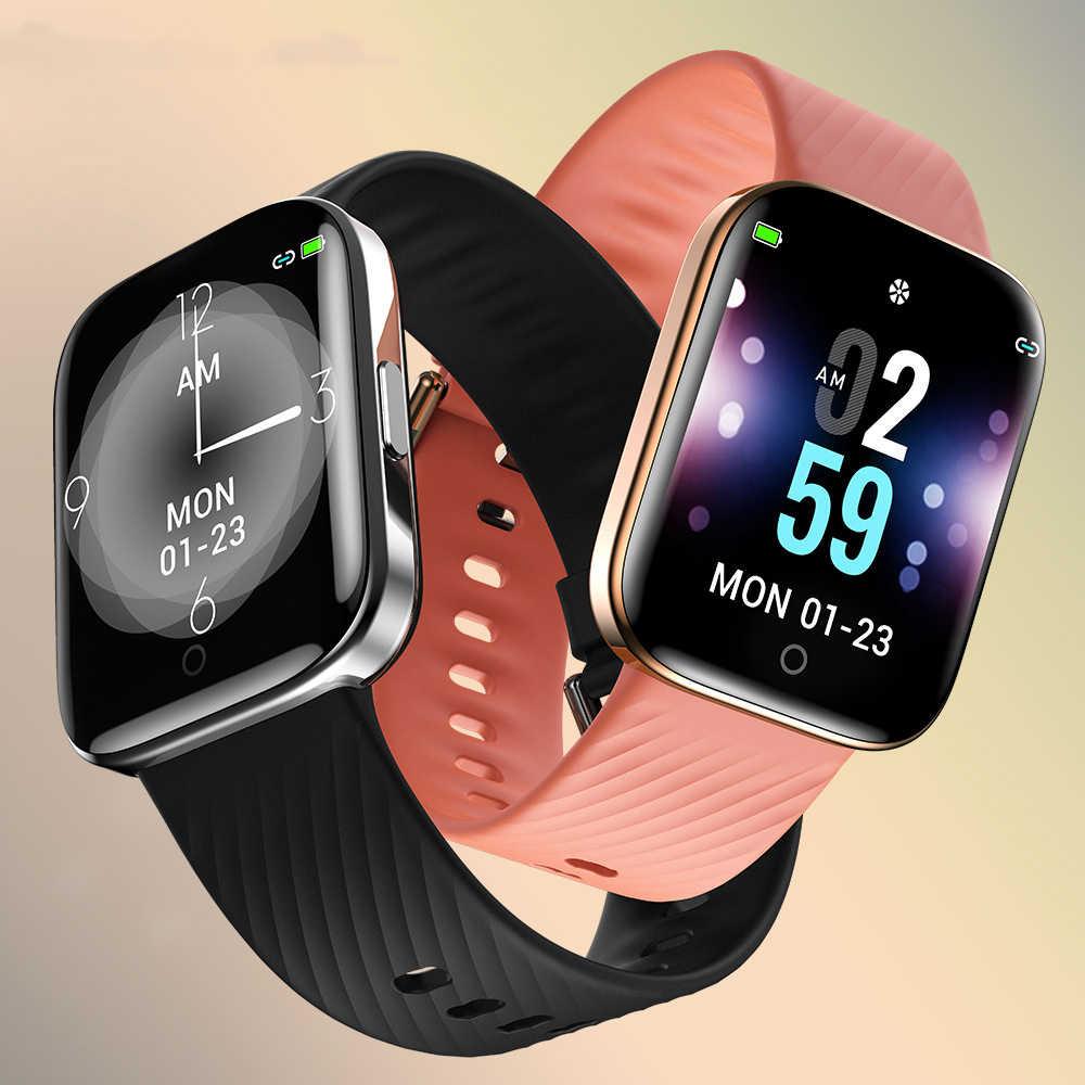 Lige relógio smartwatch feminino, relógio inteligente, conexão bluetooth, para android, ios, monitor de saúde, a prova d' água ip68, esportivo + caixa, 2020