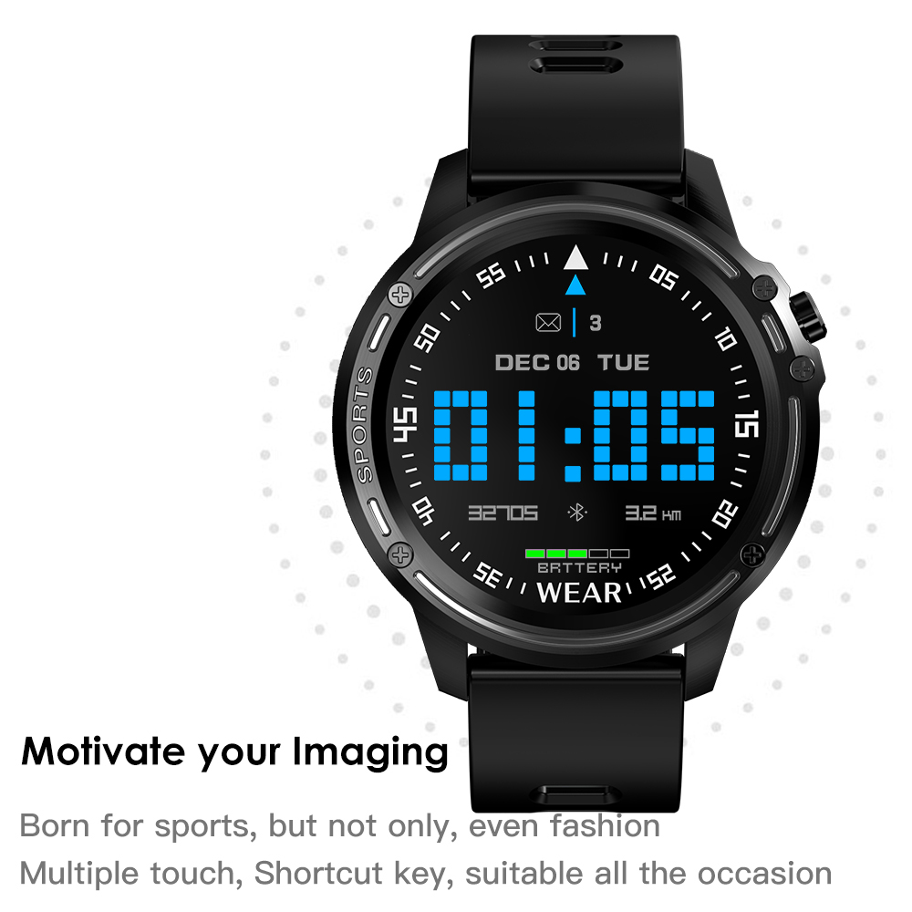 Hb53b1430a8ae4bcfad66dcaef9cbc24bb L8 Smart Watch Men Fitness Tracker Heart Rate Blood Pressure Monitoring Smart Bracelet Ip68 Waterproof Sports Smartwatch