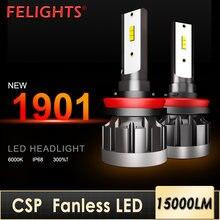 2 шт Автомобильные светодиодные лампы h4 h8 h9 hb3 9005 hb4