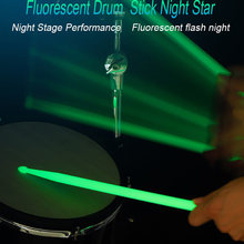 Noctilucent 5A Drum Stick Glow Dalam Gelap Kinerja Bercahaya Stik Drum(China)