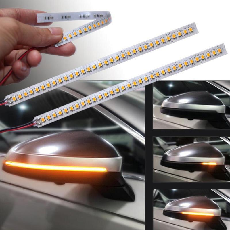 15 см 28 светодиодов автомобиля Зеркало заднего вида индикаторная лампа стример газа автомобильный светильник источник интерьер движущаяся ...