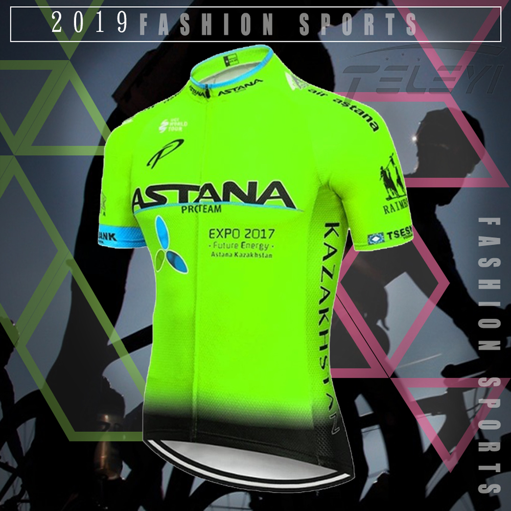NEW 2019 ASTANA team pro cycling jersey MTB Ropa Ciclismo mens women summer bicycling Maillot bike jersey wear