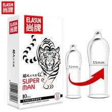 Elasun 55mm Super Plus Size Condoms For Men Dick Erotic Cock Condom Sex Toy Man Fire Erection Big Penis Sex Intimacy Condoms