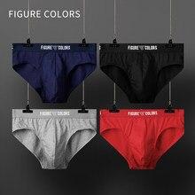 3 pièces/hommes sous-vêtements coton homme caleçon Sexy slips homme bref Gay respirant hommes culottes couleur unie confortable Boxer