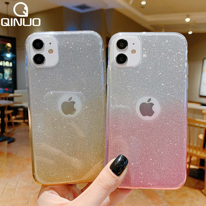 Милый Блестящий блестящий чехол для iPhone 11 Pro Max XS X XR 7 8 Plus 6 6S 5 5S SE 2020 10 роскошный мягкий силиконовый чехол из ТПУ для девочек Специальные чехлы      АлиЭкспресс