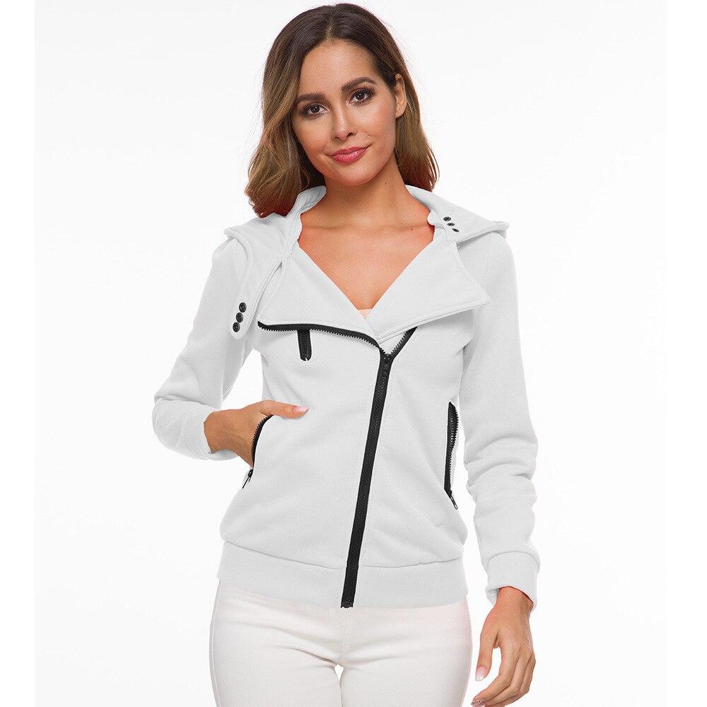 oversize 2020 Zipper Hoodies Women Jackets Hoody Jumper Overcoat Outwear Female Sweatshirts Warm Fashion Long Sleeve Hoodies 3
