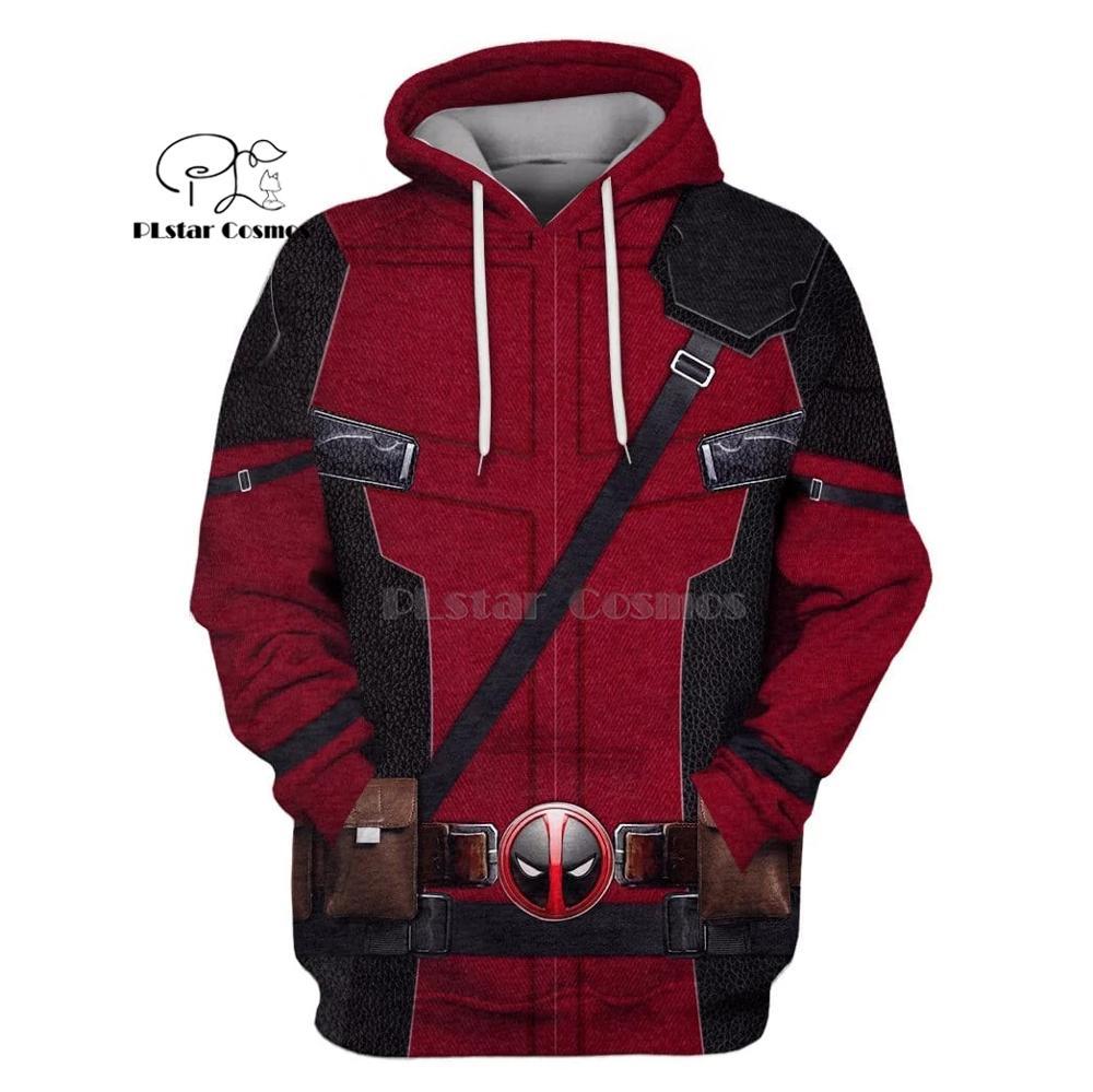 Deadpool 3d impresso hoodies das mulheres para os homens Moletom Harajuku engraçado do Dia Das Bruxas cosplay streetwear transporte da gota