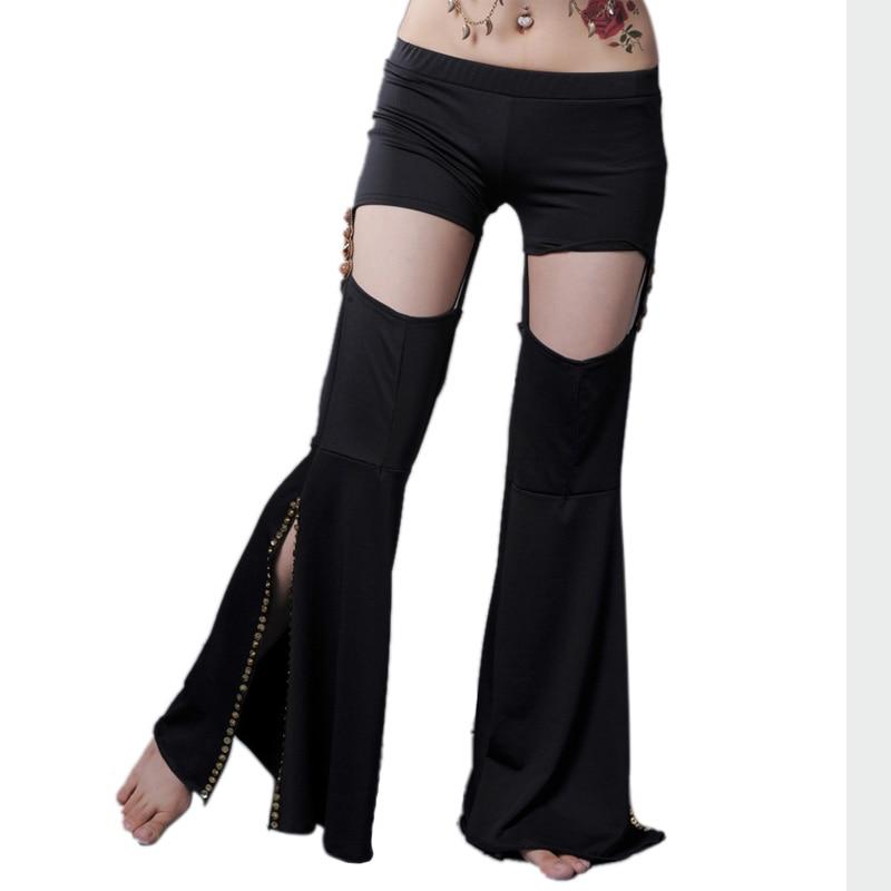 Sexy Belly Dancing Pants Double Tribal Pants Performances Pants Black Colors