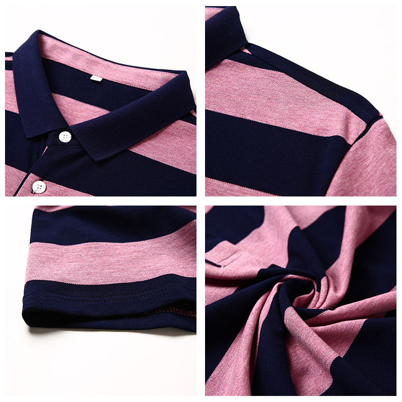 •Ultimate DealUCAK T-Shirts Mens Turn-Down-Collar Clothing Tops Short-Sleeve Striped Cotton U5088 New-Arrival\