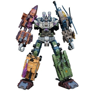 Large 5in1 Robot G1 Transformers Bruticus Model WK War Chariot Action Figure Collections 1