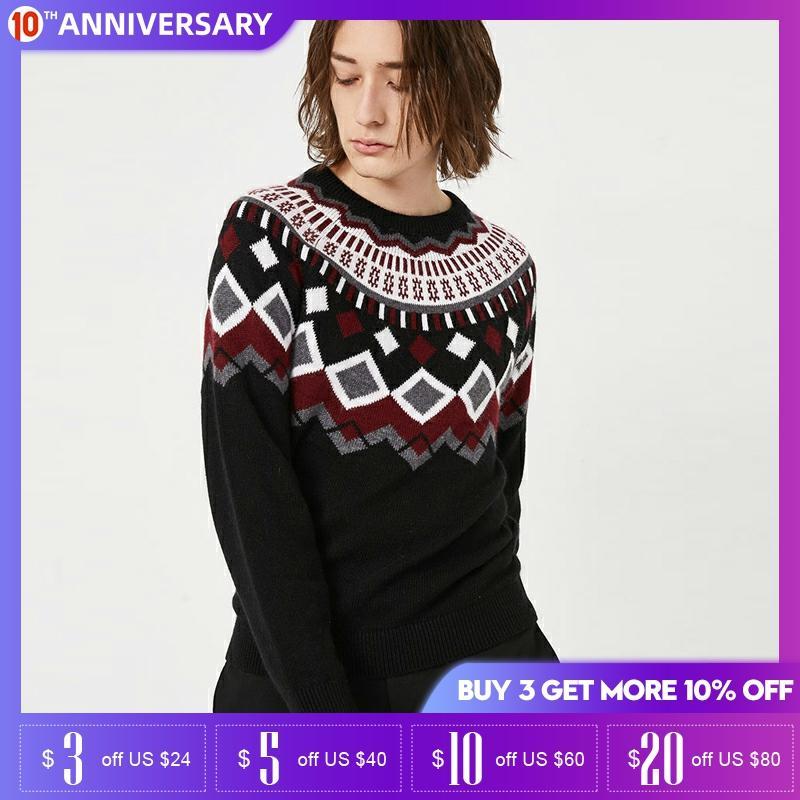Jack Jones Basic Winter Mens Jacquard Comfortable Sweater | 219424519
