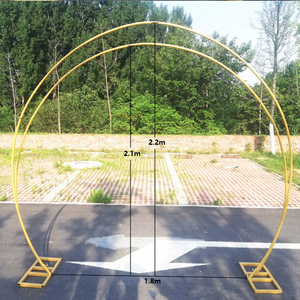 Image 5 - JAROWN New Wedding Double Ring Single Pole Arch Round Wedding Decoration Flower Stand Home Party Background Decorative Shelf