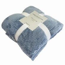 Однотонное Сетчатое одеяло, Коралловое Флисовое одеяло, фланелевое одеяло для дивана, детское одеяло, чехол с ананасом, для пожилых людей, дышащее, диастолическое, Pressu