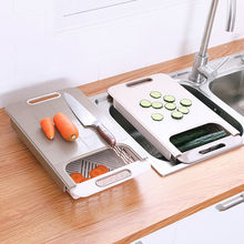 Thickened Multi-function Kitchen Cutting Board Storage Retractable Fruit Meat Anti-slip Moldproof Drain 30