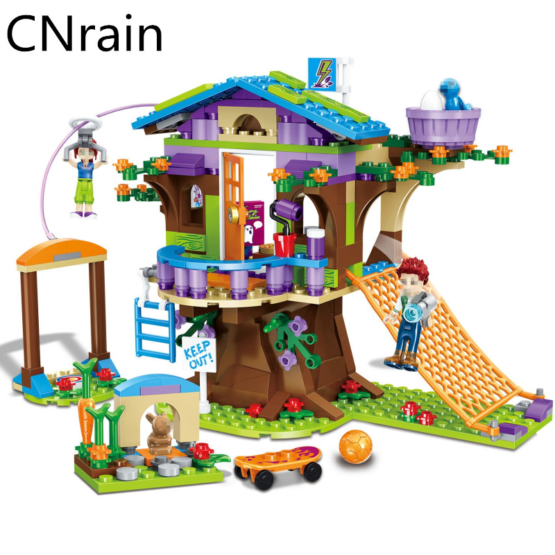 <font><b>10497</b></font> Compatible with city Friends Adventure Camp Mia Tree House 41122 girl Mia Emma Figure Model Building block For Children image