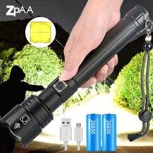 Potężny XHP90.2 LED latarka lampa latarka z regulacją wiązki światła 18650 26650 USB akumulator tarkawodoodpornal dla Camping polowanie awaryjne