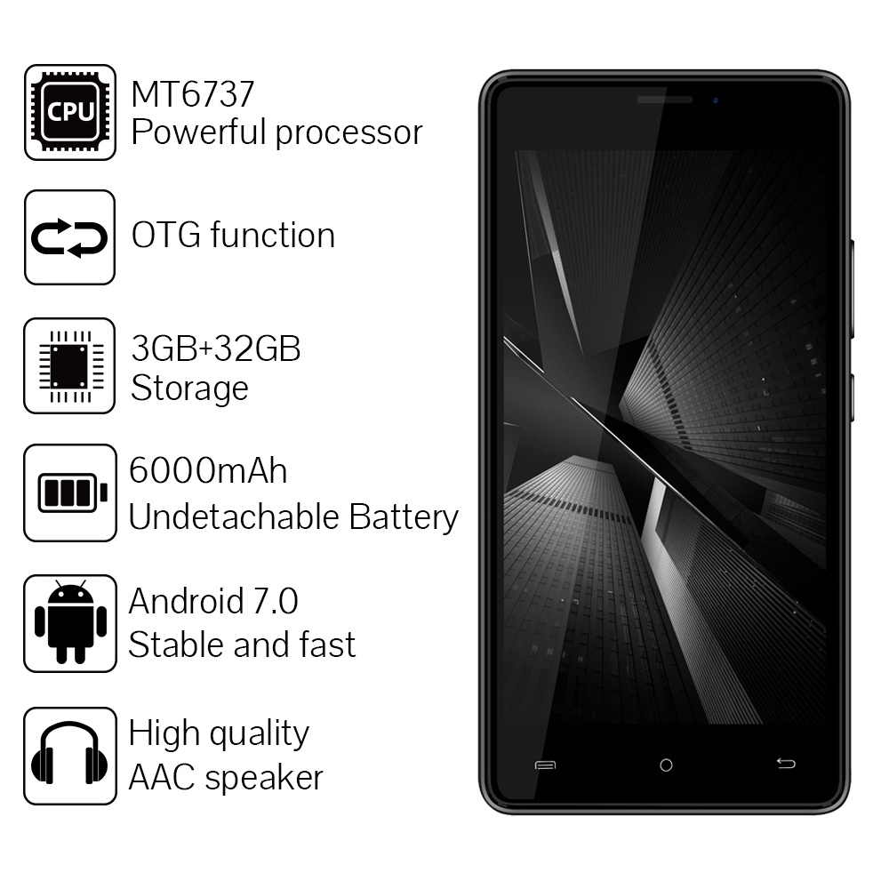 CUBOT H3 SmartPhone 3GB RAM 32GB ROM 5.0