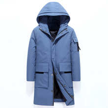 2019 New Men #8217 s Winter Jacket Long Men #8217 s Coat with Zipper Hooded Male Coats High Quality Man Winter Brand Clothing 993 cheap JUNGLE ZONE Thick (Winter) L993 REGULAR Casual Full Solid Denim NONE Button Pockets Zippers Appliques Polyester Acetate