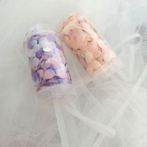 1 комплект, нажмите Poppers, смешанные цвета розового золота, конфетти, свадебные, юбилейные, пуш-поп, конфетти, для детского душа, сделай сам, украшения для дня рождения