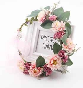 Flower Crown Hair-Accessories Headbands Bridesmaid Women for Wholesale 20pcs/Lot