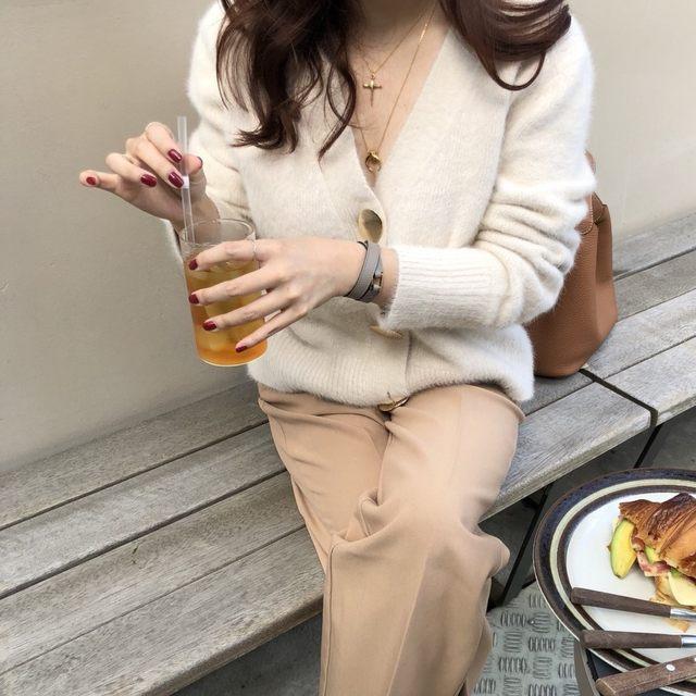 Mooirue Autumn Women Soft White Knitted Cashmere Sweater Double Button Women Warm Jumper V-Neck Winter Sweater 33
