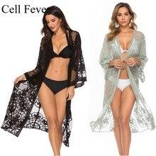 9 Color Sexy Beach Dress Women Bikini Cover Up Swimwear Robe De Plage Lace Cardigan Tunic Kaftan Saida de Praia Pareo