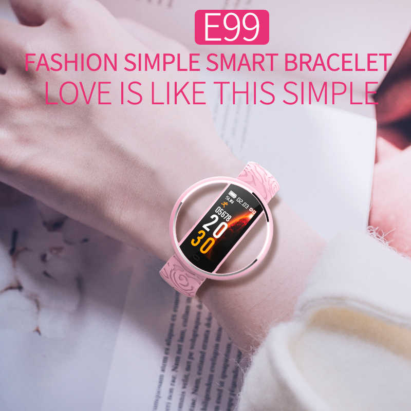 IP67 עמיד למים חכם כושר צמיד מד צעדים smart watch נשים אנדרואיד reloj mujer relogio feminino שעוני saati ספורט שעון