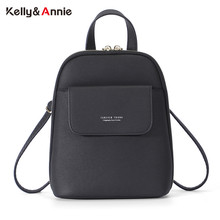 Forever Young Women Backpack Fashion Small Backpack Female Soft Leather Ladies