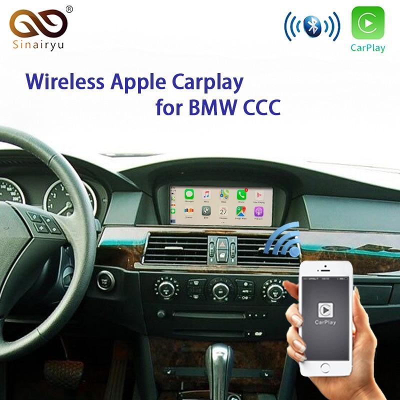 Kablosuz Apple Carplay BMW CCC 1 3 5 6 7 sertes X1 X3 X5 X6 Z4 E60 E61 E62 e63 E70 E71 E8 Android otomatik yansıtma araba oynamak