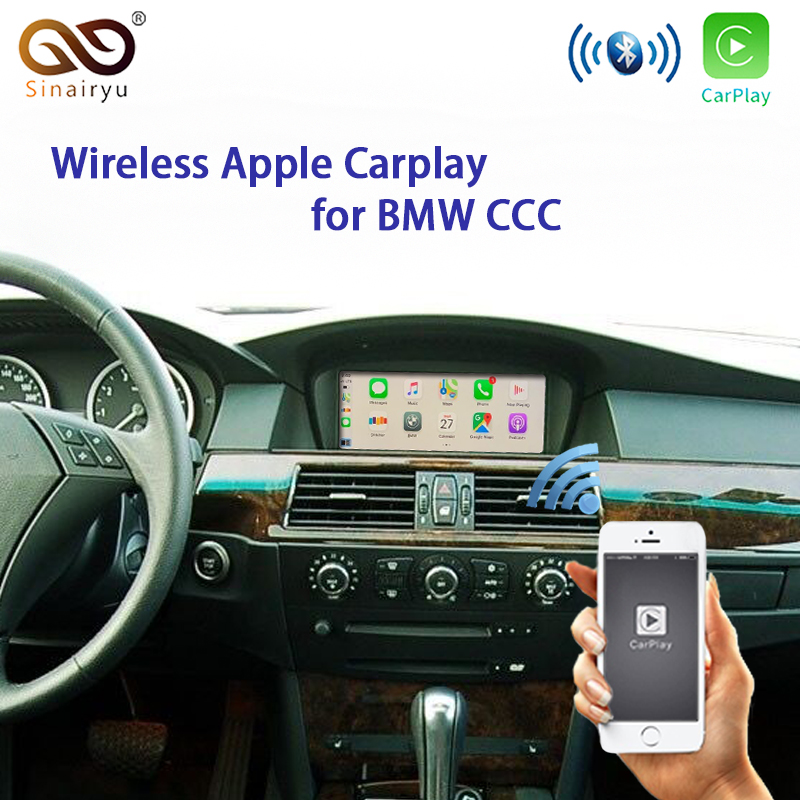 Wireless Apple Carplay For BMW CCC 1 3 <font><b>5</b></font> <font><b>6</b></font> 7 sertes X1 X3 X5 X6 Z4 E60 E61 E62 E63 E70 E71 E8 Android Auto Mirroring Car Play image