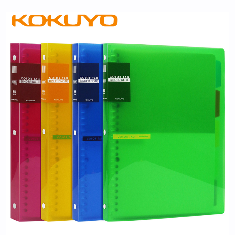 1Pcs Japan KOKUYO COLOR TAG Binder Notebook PP Material High Saturation B5 Binder Book 26 Holes 50 Pages