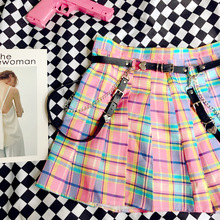 Victorian Skirt Sweet Lolita Belt Tea-Party Punk Black Girl Princess Cool Hip-Hop Plaid