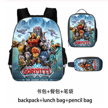 3pcs/set Gormiti Anime Prints Cartoon School Bags for Boys Children's Large Backpack Kids Primary Schoolbag Mochila Bagpack