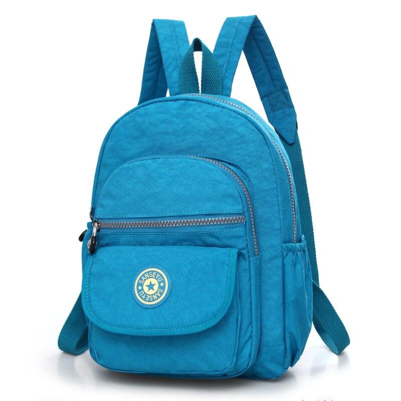 Повседневное женский рюкзак с защитой от краж с простой твердой колледж Стиль школьная сумка Мода Дорожная сумка для путешествий - Цвет: Темно-синий