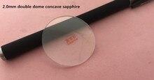 Gratis Verzending 1 Pc 2.0 Mm Dikke Concave Dubbele Dome Transparante Sapphire Voor Horloge Reparatie