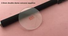 Livraison gratuite 1pc 2.0mm dépaisseur Concave Double dôme Transparent saphir pour réparation de montre