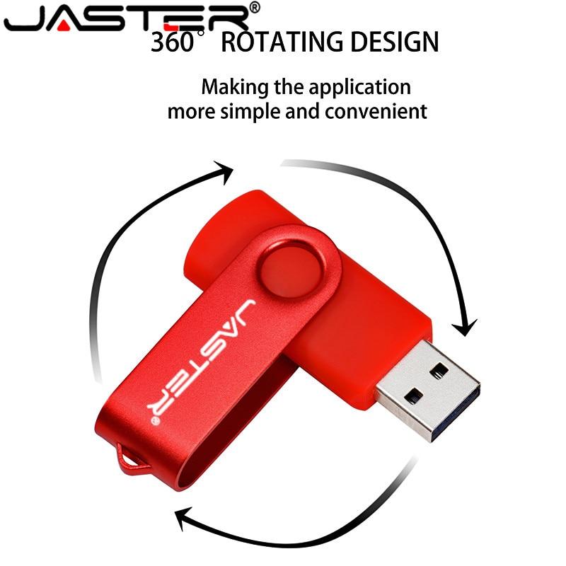 JASTER New USB Flash Drives Swivel External Pendrive 64GB 32GB 16GB 8GB 4GB Memory Stick Usb Creative Pen Drive