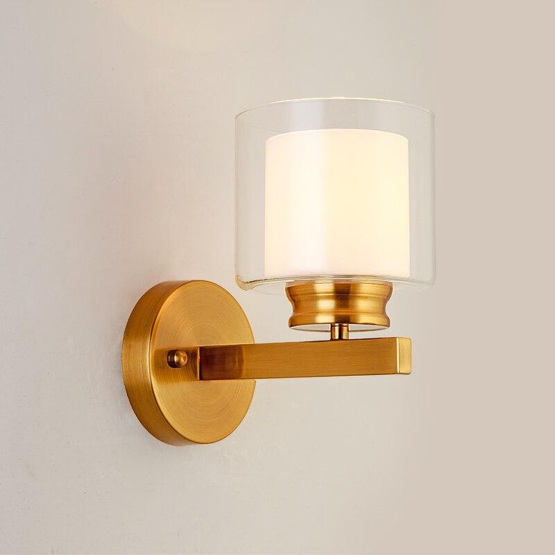 Moderne Goud Led Wandlamp Glas Wandlampen voor Home Decor Woonkamer Slaapkamer Badkamer Spiegel Licht Armaturen Blaker Art deco-in LED Indoor Wandlampen van Licht & verlichting op Seven-Sense Life Store