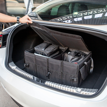 For Tesla Model 3/S/X/Y Folding Cargo Storage Oxford fabric Trunk Organizer Black for model 3 Y