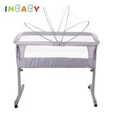 IMBABY переносная детская кровать для путешествий, переносная детская кроватка для новорожденных, переносная детская кроватка, детское гнездо для новорожденных, люлька с москитной сеткой