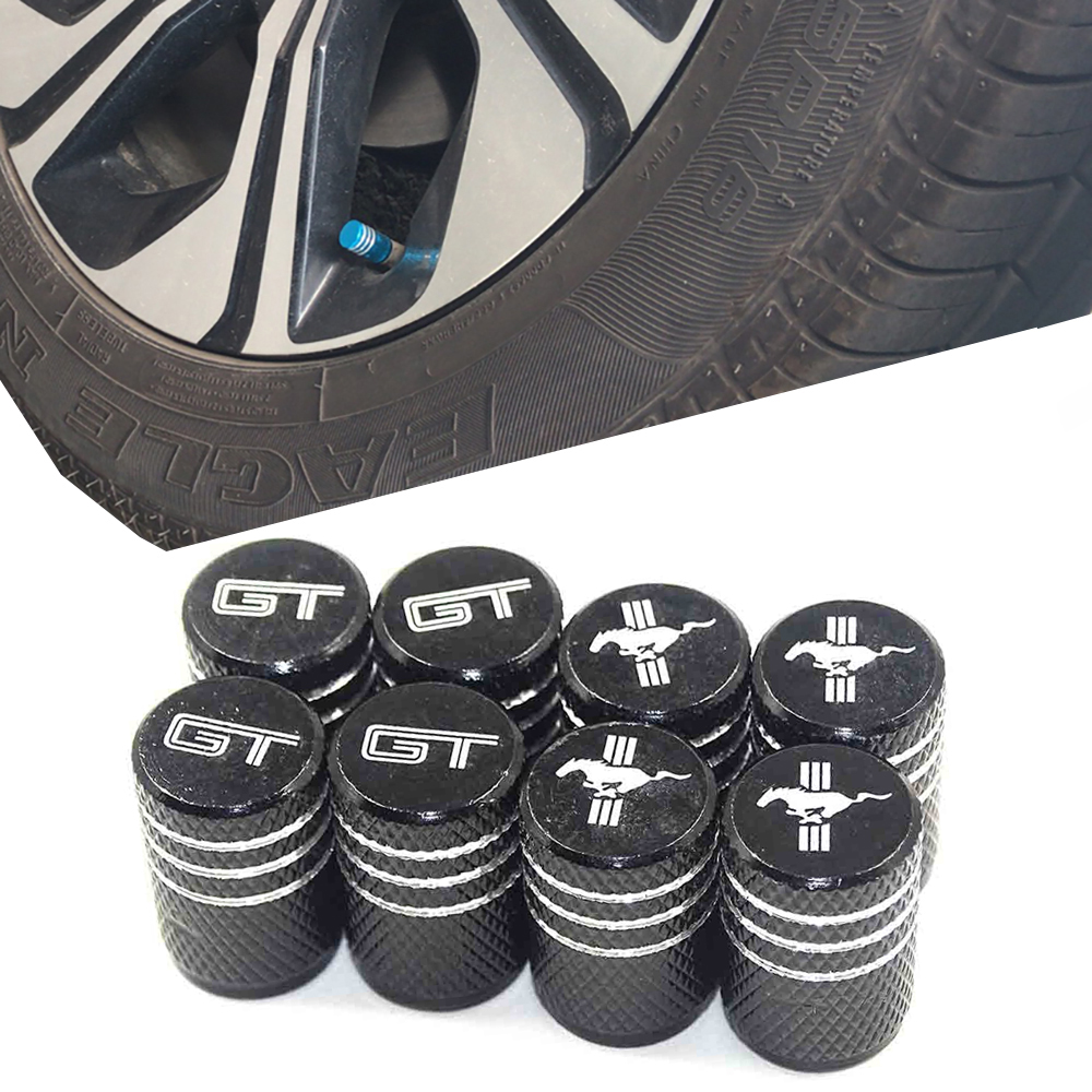Thread Car Tires Wheel Valve Cap Dust Cover Auto Styling For Ford Wolf Mustang ST Racing RS GT Shelby Kuga Fiesta Fusion