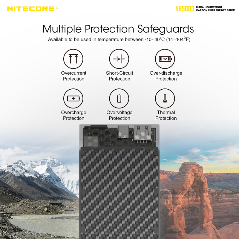 NITECORE NB5000 Quick-Charge Dual Port Power Bank, charger, charging, smartphone, telefon, caj, power, power bank, running, hiing, camping, outdoor, malaysia, affordable