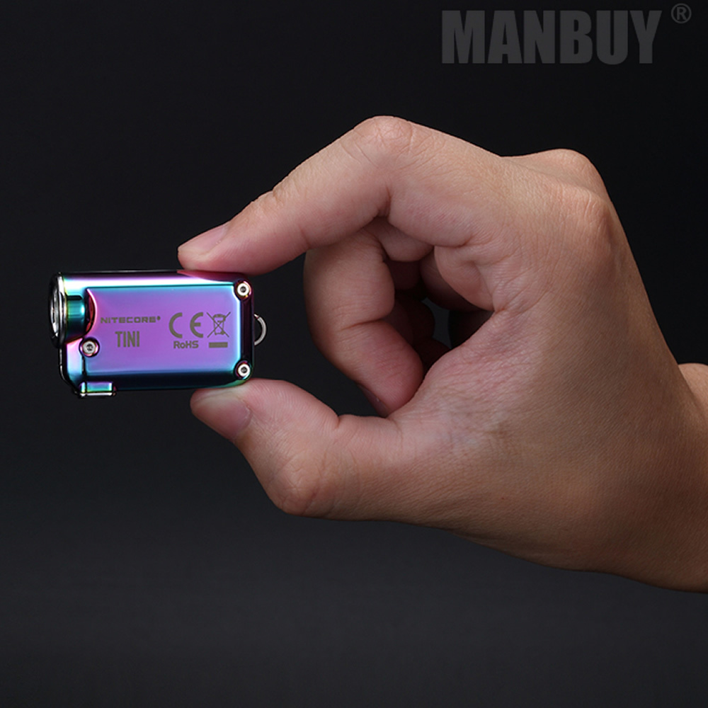 Wholesale NITECORE TINISS Tini CU Micro Micro USB Rechargeable Keylight Mini EDC Flashlight Metal Keychain Light Builtin Battery